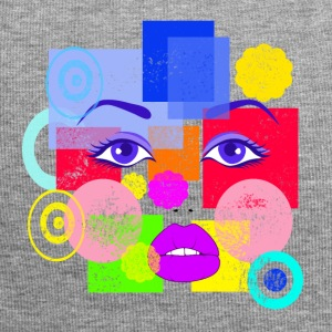 Abstract Face - Jersey Beanie