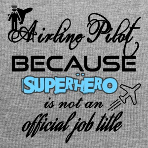 Airline Pilot because superhero is not a job title - Jersey Beanie