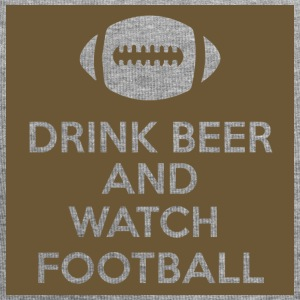 Football: Drink Beer and Watch Football - Jersey Beanie