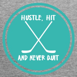 Eishockey: Hustle, Hit and never Quit. - Jersey-Beanie