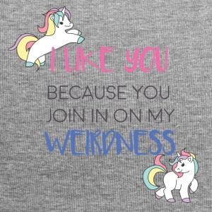 Unicorn - I like you because you join in ... - Jersey Beanie