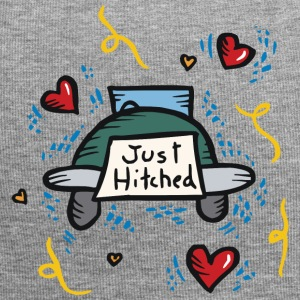 Just Married Just Hitched - Jersey Beanie