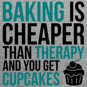 Baking cheaper than therapy - Jersey-Beanie