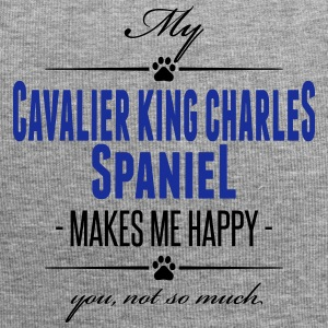 My Cavalier King Charles Spaniel makes me happy - Jersey-Beanie
