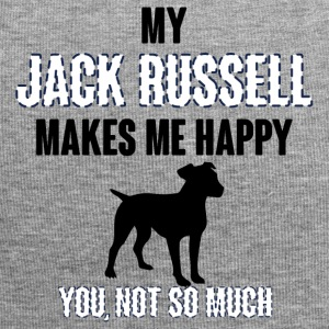 Hund / Jack Russell: My Jack Russell Makes Me Happ - Jersey-Beanie