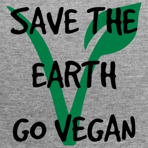 Save the earth go vegan - Jersey Beanie