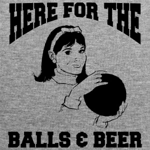 Women's Bowling Here For The Balls And Beer - Jersey Beanie