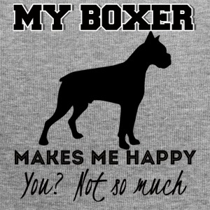 Hund / Boxer: My Boxer Makes Me Happy. You? Not so - Jersey-Beanie