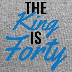 40th Birthday: The King Is Forty - Jersey Beanie