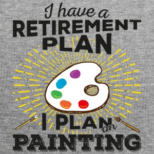 Retirement plan painting (dark) - Jersey Beanie