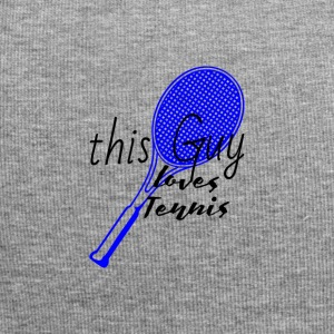 dieser Typ liebt Tennis | loves tennis blau - Jersey-Beanie