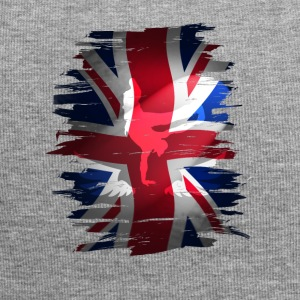 Union Jack flag britain Stunt England destroyed ro - Jersey Beanie