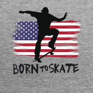 born to skate skateboard america flag destroyed 21 - Jersey Beanie
