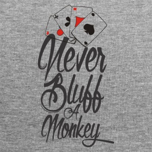Never bluff a monkey Poker Shirt - Jersey Beanie