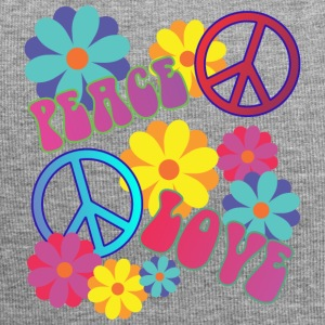 love peace hippie flower power - Jersey Beanie