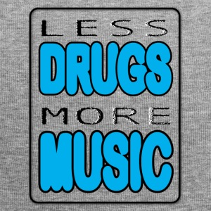 Less Drugs More Music - Beanie in jersey