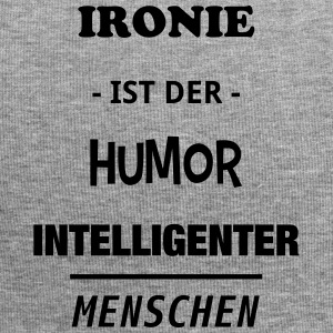 Ironie is de humor intelligente mensen - Jersey-Beanie