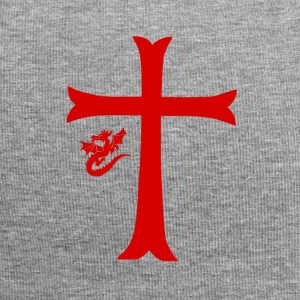 Red Dragon & Cross - Jersey Beanie