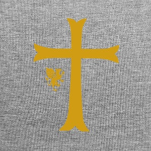Big Gold Cross - Jersey Beanie