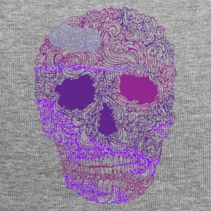 Ornate-Skull-in-Purple - Gorro holgado de tela de jersey
