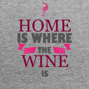 For wine lovers: Home is where the wine is - Jersey Beanie