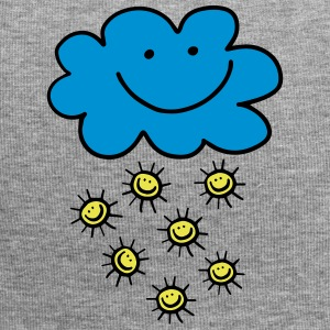 Funny cloud with sun, summer, spring, weather - Jersey Beanie