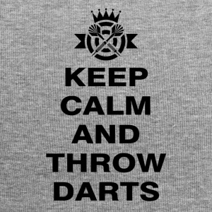 Keep calm and throw darts - Jersey Beanie