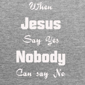 when Jesus say yes nobody can say no - Jersey Beanie
