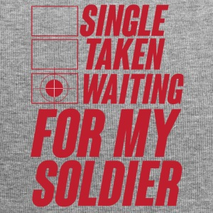 Military / Soldiers: Single, Taken, Waiting for my - Jersey Beanie