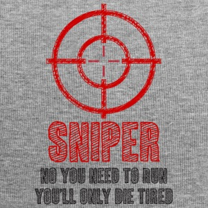 Military / Patriotic: Sniper - No you need to run, - Jersey Beanie
