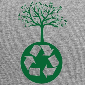 Earth Day / Tag der Erde: Recycling heals the Worl - Jersey-Beanie