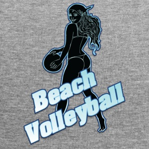 beach volleyball black - Jersey Beanie