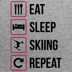 Eat Sleep Skiing herhalen - Jersey-Beanie