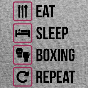 Eat Sleep Boxing Repeat - Beanie in jersey