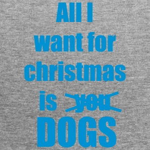 Christmas song saying dog - Jersey Beanie