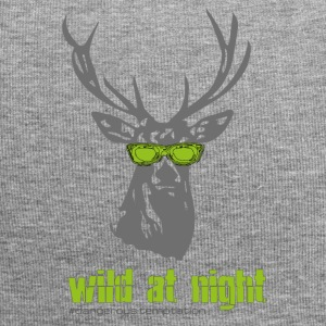 "Deer with sunglasses ""wild at night"" - Jersey Beanie"
