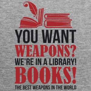 Books the best weapons in the world - Jersey-Beanie