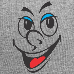 Cartoon Face Laughing - Beanie in jersey