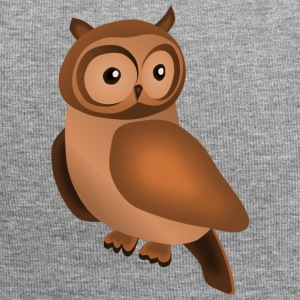 Owl in brown - Jersey Beanie