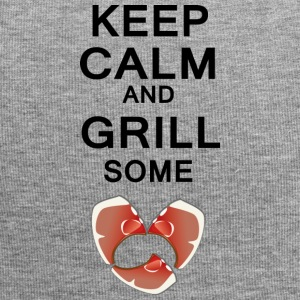 keep calm and grill some steaks differently - Jersey Beanie