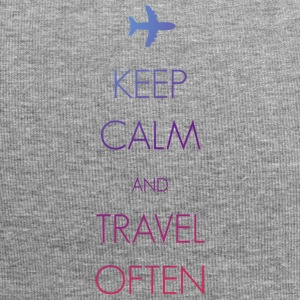 Keep calm and travel oft - Jersey Beanie