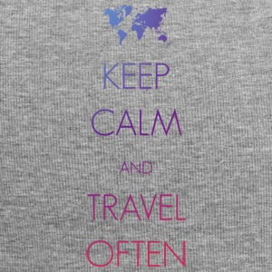 Keep calm and travel often - Jersey-Beanie