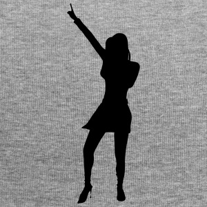Singer and Dancer Silhouette vector design - Jersey Beanie