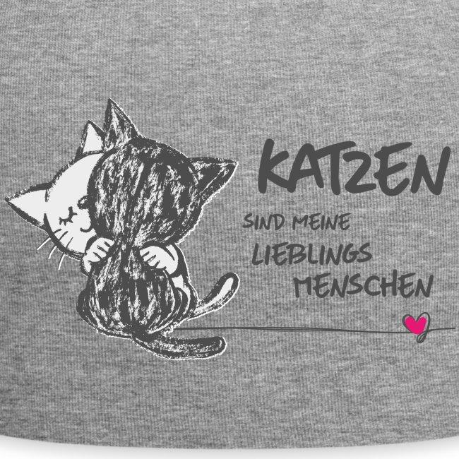 Vorschau: Katzen Lieblingsmenschen - Jersey-Beanie