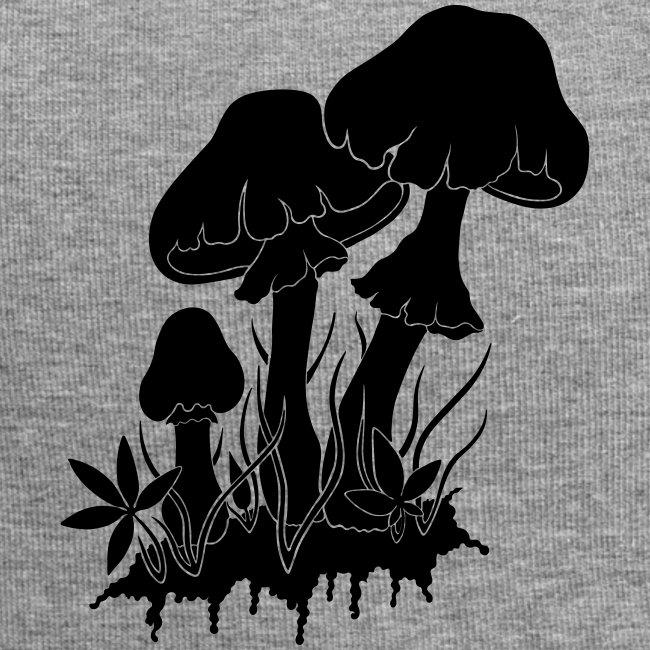 champignons noir et blanc