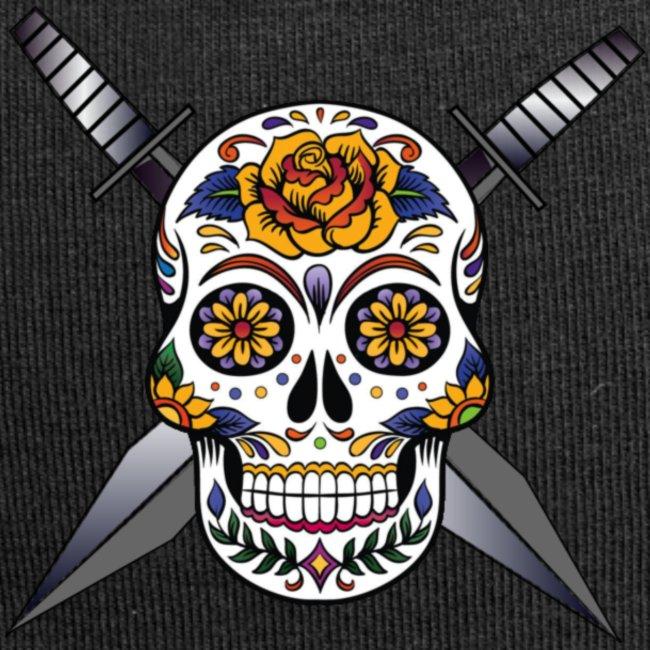 Cross skull swords
