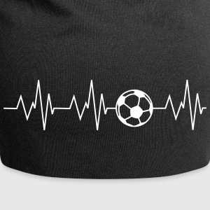 Heartbeat football - Jersey Beanie