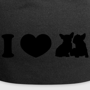 I ♥ Frenchies - Beanie in jersey
