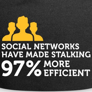 Social Networks Make Stalking Easier! - Jersey Beanie