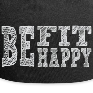 Be fit be happy - Jersey Beanie